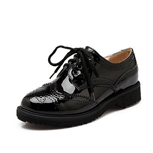 Rétro British wind band au printemps et chaussures femme d'été/étudiant noir A