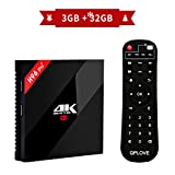 H96 Pro Plus TV Box Android 7.1 mit Amlogic S912 Octa-Core 64 Bits CPU 3GB RAM 32GB ROM TV Box mit 4k Ultra HD H.265 Ethernet 100M / 1000M 2.4GHz / 5GHz Dual WiFi Bluetooth 4.1