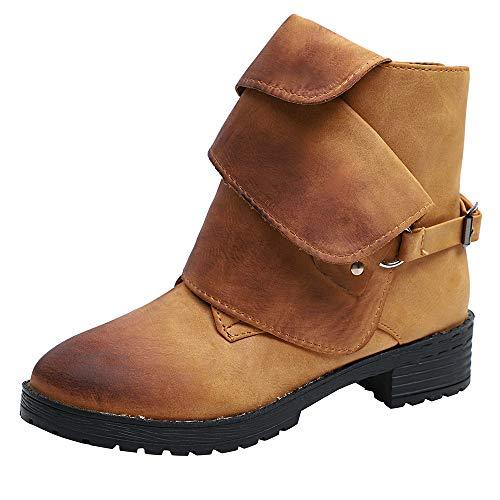 Sannysis Stiefeletten Damen Elegant Stiefeletten mit Absatz Vintage Martin  Stiefel Warm Ankle Boots Plateau Stiefel Kurz Schuhe High Heel Freizeit  Schuhe 31d77e7043