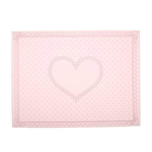 nail art Care pieghevole tappetino morbido silicone Lace DOT modello tovaglia mano 3 colori – rosa, 40 * 30 cm