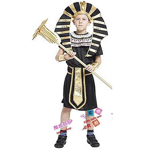 Unbekannt Ägypten Kleiner Pharao Kinder männliche Performance Kleidung Eltern-Kind-Familie Halloween COS Kleidung Campus Performance Drama Rollenspiel