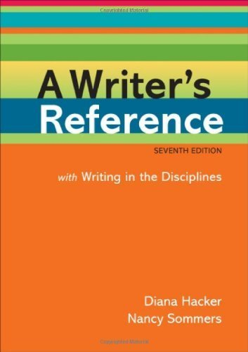 A Writer's Reference with Writing in the Disciplines by Diana Hacker (2011-04-08) par Diana Hacker; Nancy Sommers