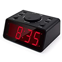 """iTronics LED Digital Alarm Clocks for Bedroom/Heavy Sleepers with 1.2"""" Display 3 Adjustable Brightness, Battery Operated Electronic Dual Alarm Clocks with Snooze"""