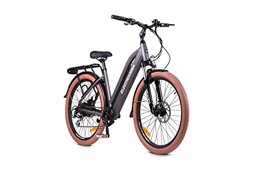 ELECTRI Bicicleta eléctrica Anima autonomía de 60km, Velocidad 25km/h, Cambio Shimano 8V, batería integrada