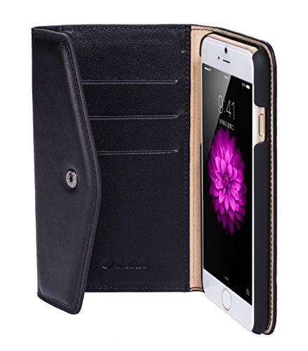 Melkco Vache Premium Leather Folio Series Book Case pour Apple iPhone 6S (4,7pouces) Noir Noir