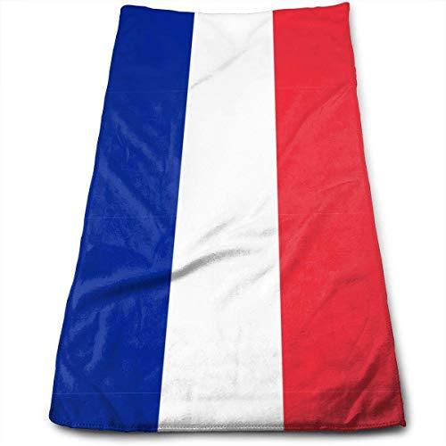 Kotdeqay Flag of France Serviette de Plage/Douche absorbante Fade-Resistant