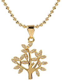 Ananth Jewels Heart Shaped Rose Gold Plated Pendant Necklace For Women - B073T42YP6