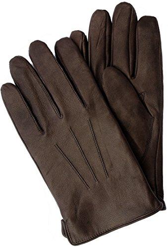 EEM Touchscreen Handschuhe BEN-IP aus echtem Leder, Smartphones gloves, braun M Leder-handschuhe Herren Braun
