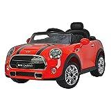 Mini Macchina Elettrica per Bambini 12V Cooper Cabrio Rossa