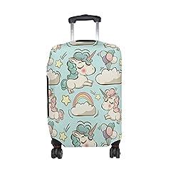 Idea Regalo - COOSUN Unicorni e Nuvole stampa del modello bagagli di corsa di protezione rivestimenti lavabili Spandex bagagli Suitcase Cover - Fits 23-32 pollici M 23-26 in Multicolore