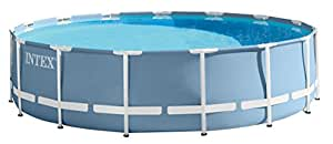 Intex KIT Piscine Prism Frame 4M57 X 1M07, 14.614 liters L, Light Blue, 457x457x107 cm