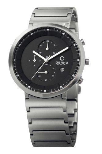 Obaku Harmony - Reloj analógico de cuarzo para hombre con correa de acero inoxidable, color plateado