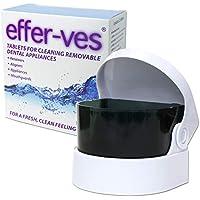 Effer-Ves & Limpiador Sónico ~ Caja de 32 Tabletas Limpiadoras (Con Baterías 2 AA / Baterías NO Incluidas)