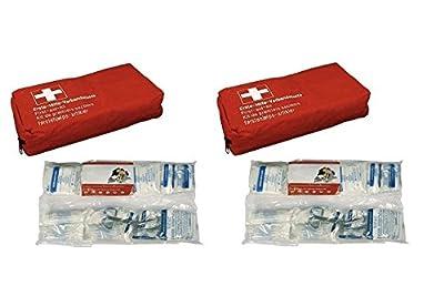 2 x Verbandstasche DIN 13164-2014 Verbandskasten KFZ Auto Erste Hilfe Klettband
