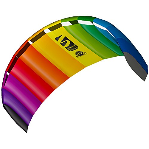 Invento 11768250 - Smyphony Beach III 1.8 Rainbow, Zweileiner Lenkmatten, Ab 12 Jahren, 60 x 180 cm Ripstop-Nylon 2-6 Beaufort