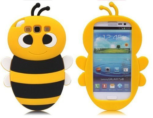 SKS Distribution jaune Bumble Bee Custodia in silicone / Cover / Case per Samsung I9300 Galaxy SIII S3