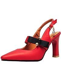 Red 37 1/3 EU Amy Q Scarpe con cinturino alla caviglia donna rosso 37 prr