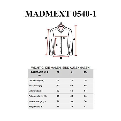 BOLF Mens chemise en jean casual shirt shirt hommes Scène Jeans MADMEXT 0540-1 BLEU FORCE-GRIS