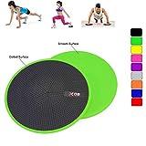 Xn8 Sports - Discos de Doble Cara para Yoga, diseño de Puntos, Abdominales y Pilates de Ejercicio para alfombras y Suelos Duros, Verde