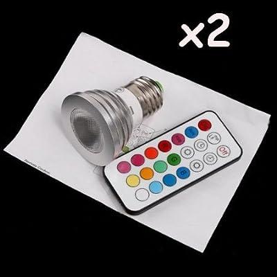 2 X Tomorrowtop RGB Farbwechsel LED-Lampen bunte Led Leuchtmittel Strahler Glühbirne birne Lampe 5W E27 Farbe dimmbar inklusive Infrarot-Ferbedienung von Tomorrowtop auf Lampenhans.de