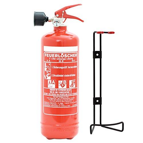 Feuerlöscher 2L ABF Fettbrandlöscher EN3 inkl. ANDRIS® Prüfnachweis mit Jahresmarke