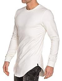 BLZ jeans - Sweat homme blanc uni oversize