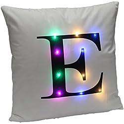 DrCosy Weihnachten LED-heller Leinen Kissenbezug Einzigartige Hauptdekor Sofa Throwpillow Kissen Abdeckung Dekoration 45cmX45cm