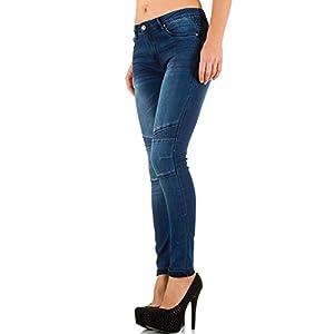 Damen Jeans, USED LOOK BIKER SKINNY JEANS, KL-J-CY616
