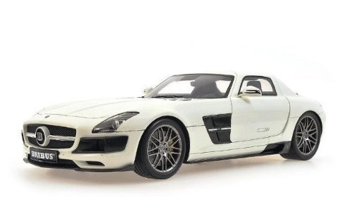 2012-brabus-sls-amg-coupe-in-pearl-white-in-118-scale-by-minichamps-by-minichamps