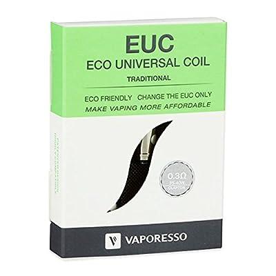 Vaporesso EUC Traditional Verdampferköpfe 0.3 Ohm 5er Pack von Vaporesso