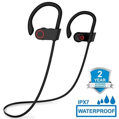 Bluetooth Kopfhörer, ARTHOME Bluetooth 4.1 Sport Stereo In Ear Kopfhörer inklusive Mikrofon für iOS- und Android-Geräte usw, für iPhone, iPad, Samsung, Nexus, HTC und mehr thumbnail