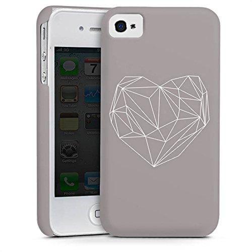 Apple iPhone 5s Housse Étui Protection Coque C½ur Amour Amour Cas Premium mat