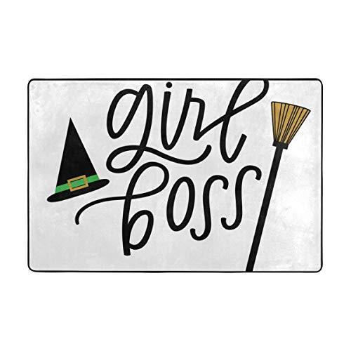 cleaer Girl Boss, Wicked Witch Fußmatte Eingangsmatte Bodenmatte Teppich Indoor/Outdoor/Haustür/Bad Matten Gummi rutschfest 36 x 24 Zoll