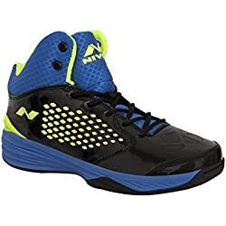 Nivia Warrior -1 Basketball Shoes Black Blue(6)