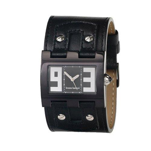 Bruno Banani - XT Evolutuion Square XT3 901 301 - Montre Homme - Quartz - Analogique - Bracelet Cuir Noir