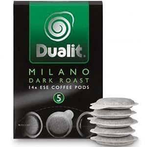 Dualit Milano Dark Roast Coffee Pods (Pack of 14)