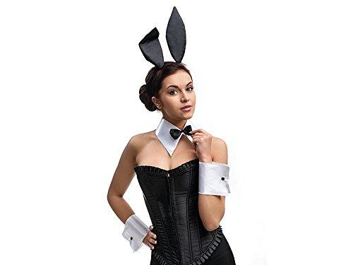 Feste Feiern Halloween Deko I 4 Teile Bunny Häschen Köstüm Schwarz Weiß Happy Horror Grusel Party