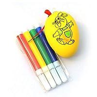 100% nuovo e di alta qualità. Materiale: Plastica Dimensioni: circa.4.5cmx6cm (mappatura manuale, si prega di lasciare gap 1-2-2M) Colore: come mostrato (penna e uovo color acqua, colore casuale) Questo è un gio...