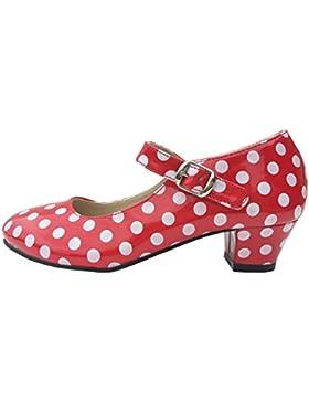 La Senorita spagnola Flamenco - Rosso Bianco scarpe
