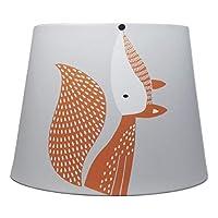 Fox Lampshade Ceiling Light Shade Grey Peyote Cartoon Foxes Kids Bedroom Nursery Lamps Accessories Gifts