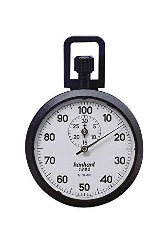 Hanhart Präzisions-Kronen-Stoppuhr 1/100-Minuten 30-Minuten