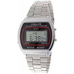 Coolife Unisex-Armbanduhr Retro Style Watches Digital Quarz Metall CL2013G933