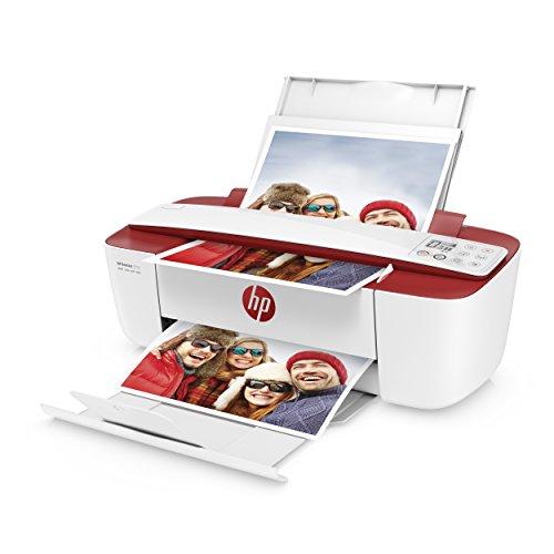 einfacher kopierer HP DeskJet 3732 Multifunktionsdrucker (Instant Ink, Drucker, Scanner, Kopierer, WLAN, Airprint) rot mit 3 Probemonaten HP Instant Ink inklusive