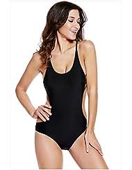 L'Europe et le nouveau plus taille maillot de bain strappy creux Resort Spa Halter One-Piece swimsuit
