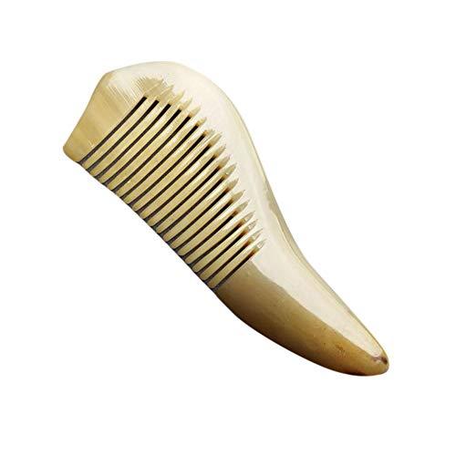 KERVINFENDRIYUN YY4 Natürlicher gelber Horn-Endstück-Kamm-tragbarer Haarkamm keine statischen keine Verwicklungen (Farbe : Photo color) - 2 Endstücke Holz