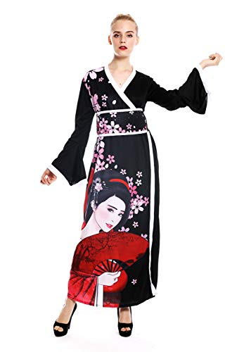 Kostüm Erwachsenen Kurtisane Für - dressmeup W-0288-S/M Kostüm Damen Frauen Karneval Kimono Japan Japanerin China Geisha Kurtisane S/M