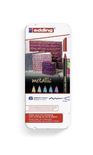 edding-4-1200-6-fasermaler-1200-color-pen-1-3-mm-6-er-set-sortiert-metallic