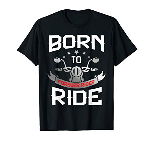 Motorrad Biker Shirt mit Chopper Forever Rider (T-shirt Choppers Forever Schwarz)