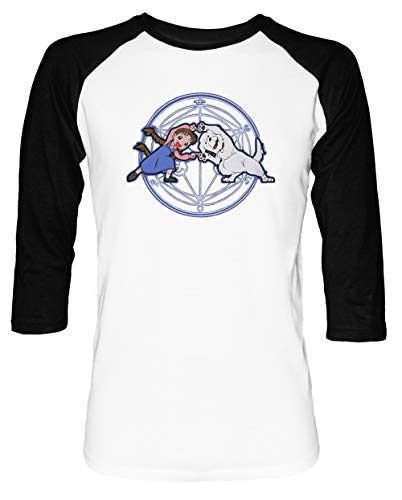 Vollmetall Verschmelzung Ha! Herren Damen Unisex Baseball T-Shirt Weiß Schwarz 2/3 Ärmel Women's Men's Unisex Chimera Medium Video