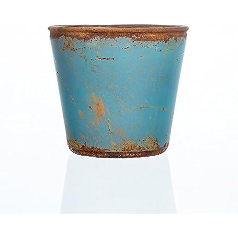 Fiore di vetro vaso Vintage Blu di Sandra Rich, Vetro, Blue, 12 cm high, Ø 13 cm